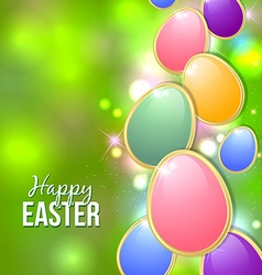 Happy easter card background vector