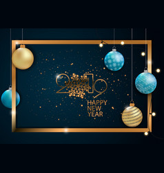 happy new year 2019 card for your design vector image