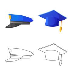 Headgear and cap sign set vector