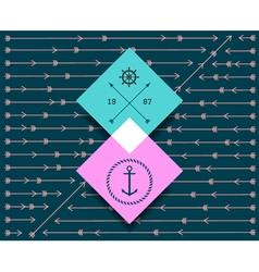 Hipster background pattern1458 vector