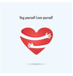 Hug yourself logo vector
