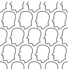 human head contour pattern vector image