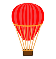 Isolated air balloon transport vector