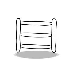 Ladder icon flat design hand drawing vector