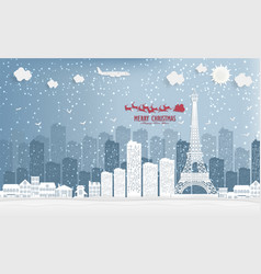 landscape and concept winter season with vector image