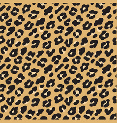 Leopard print brown black fur seamless pattern vector
