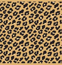 leopard print brown black fur seamless pattern vector image