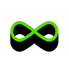 Limitless symbol green 3d vector
