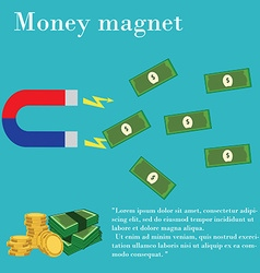 Magnet money vector image