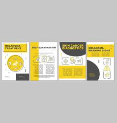 Melanoma treatment brochure template vector