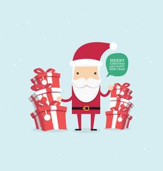 merry christmas santa claus santa claus vector image