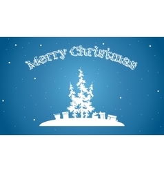 Merry Christmasof of silhouette simple backgrounds vector image