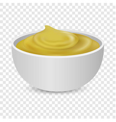 Mustard sauce bottle icons set realistic style vector
