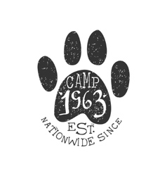 Nationwide Camp Vintage Emblem vector