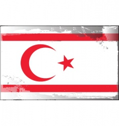 northern Cyprus national flag vector image