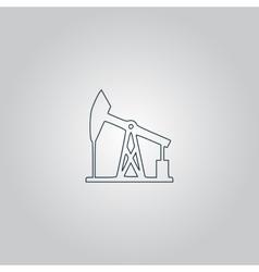 Oil derrick Black icon vector image vector image