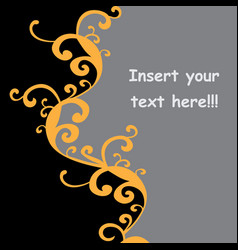 postcard with patterns for text vector image
