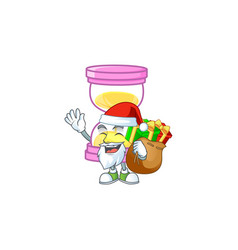 Santa with gift sandglass isolated with on white vector