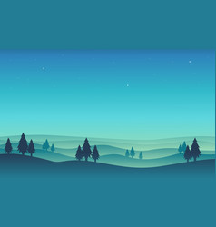 Scenery hill for game background vector