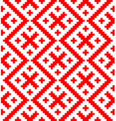 Seamless pattern based on russian folk ornament vector