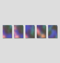 Set cover templates northern lights vector