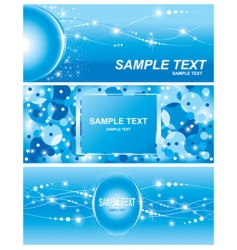 Set of electricity blue background vector