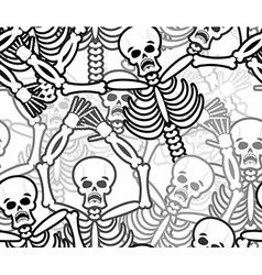 Sinners seamless pattern Skeleton in Hell vector