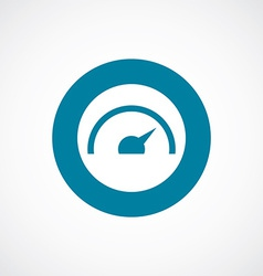 Speedometer icon bold blue circle border vector