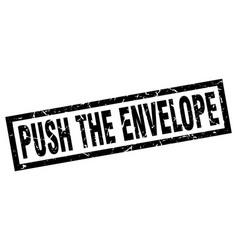 Square grunge black push the envelope stamp vector