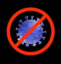 stop-coronavirus sign concept vector image