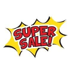 Super sale banner design vector image