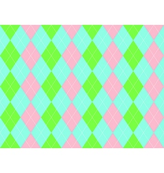 Sweet colors fabric texture argyle seamless vector