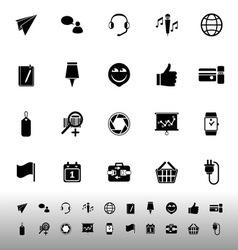 Technology gadget screen icons on white background vector