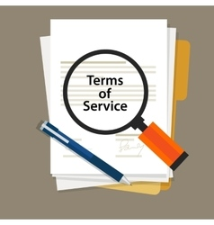 Terms of service contract document signed vector