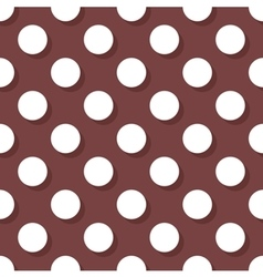 Tile pattern with white polka dots on brown vector image vector image