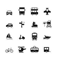 Transportation pictograms collection vector image