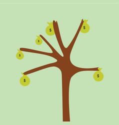 tree money vector image
