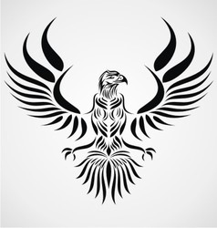 Tribal Eagle Bird vector image