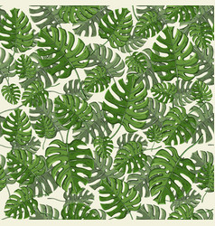 tropical leaves seamless pattern with vector image