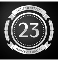 Twenty three years anniversary celebration with vector image
