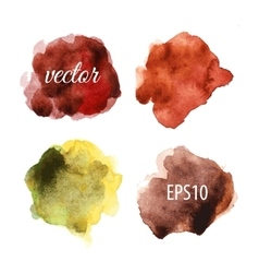 Watercolor blots isolated on white background vector image
