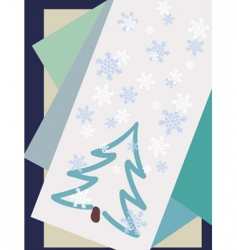 winter cards vector image