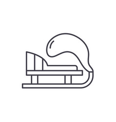 winter sled line icon concept winter sled vector image