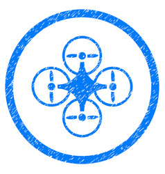 Air copter rounded grainy icon vector