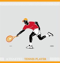 Athlete tennis player vector image