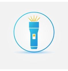 Bright flashlight icon vector image