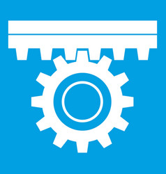 One gear icon white vector