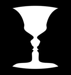 silhouette profile face vector image