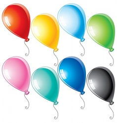 cartoon balloons vector image