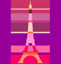 eiffel tower in paris gradient stripes vector image